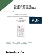 Webquest. Declaraciones de Derechos de Las Mujeres