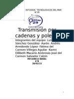 Transmisión Por Poleas y Cadenas