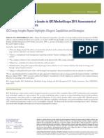 2011 ETRM Analyst Report IDC MarketScape Excerpt