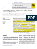 Acute   effects   of   deltamethrin   on   swimming   velocity   and   biomarkers   the common  prawn Palaemon serratus of  the common prawn Palaemon Serratus