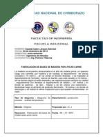 Diagrama De Proceso - Analisis Del Producto Fabricaciòn De  Bases De Madera Para Picar Carne.pdf