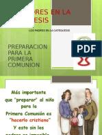 Retiro 1a. Comuniòn Papàs y Padrinos 2013