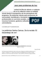 La Polémica Sartre-Camus