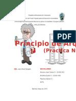 Laboratorio de Fluidos (Principio de Arquimedes)