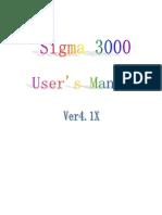 Sigma 3000 Ver4.1X User's Manual