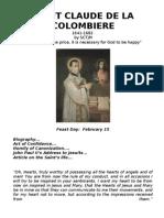 Saint Claude de La Colombiere Booklet