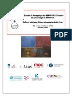 Lista de Grupos de Trabajo aceptados en la XI Reunión de Antropología del MERCOSUR.