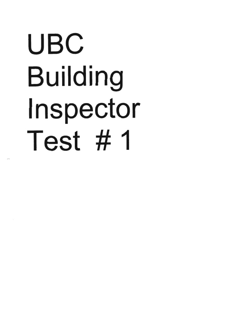 Ubc Building Inspector Test 1 Framing Construction Wall
