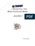 10 Things They Never Tell You When You Start Work...and Why - Malestrom