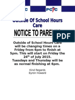 Outside of School Hours Care