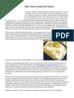 Guanabana O Graviola, Fruta Contra El Cancer
