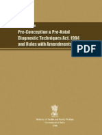 Handbook on Pre Conception and Pre Natal Diagnostics Act 1994