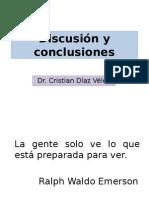 Discucion, Conclusion y Recomendacion