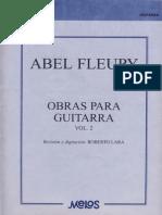 Abel Fleury, Obras para guitarra vol. 2, Ed. Melos