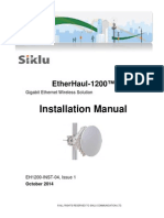 Siklu EH-1200 Installation User Manual - EH1200-InSTL-04_Issue1 (October 2014)