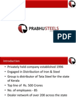 Prabhu Steels 2015- Profile
