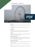 Location Recce - London Eye