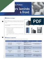 Fiches Produits - Aciers Laminés à Froid FR