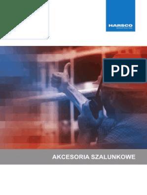 Akcesoria szalunkowe Harsco pdf | Scaffolding | Concrete