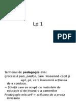 Lp 1 Pedagogie