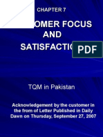 Chapter 7 Customer Focus and Satisfaction
