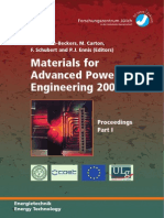 Materials for Advanced Power Engineering 2006
