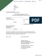 Google Inc. v. Wolfe - Document No. 15