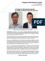 SGX - listed Singapore eDevelopment appoints Mr. Vincent Lum and Mr. Cui Peng as Executive Directors