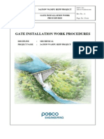 Gate Installation Work Procedures