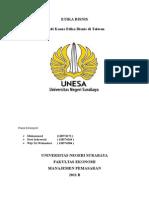 Studi Kasus Etika Bisnis