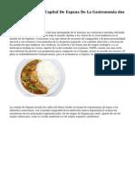 Caceres, Escogida Capital De Espana De La Gastronomia dos mil quince