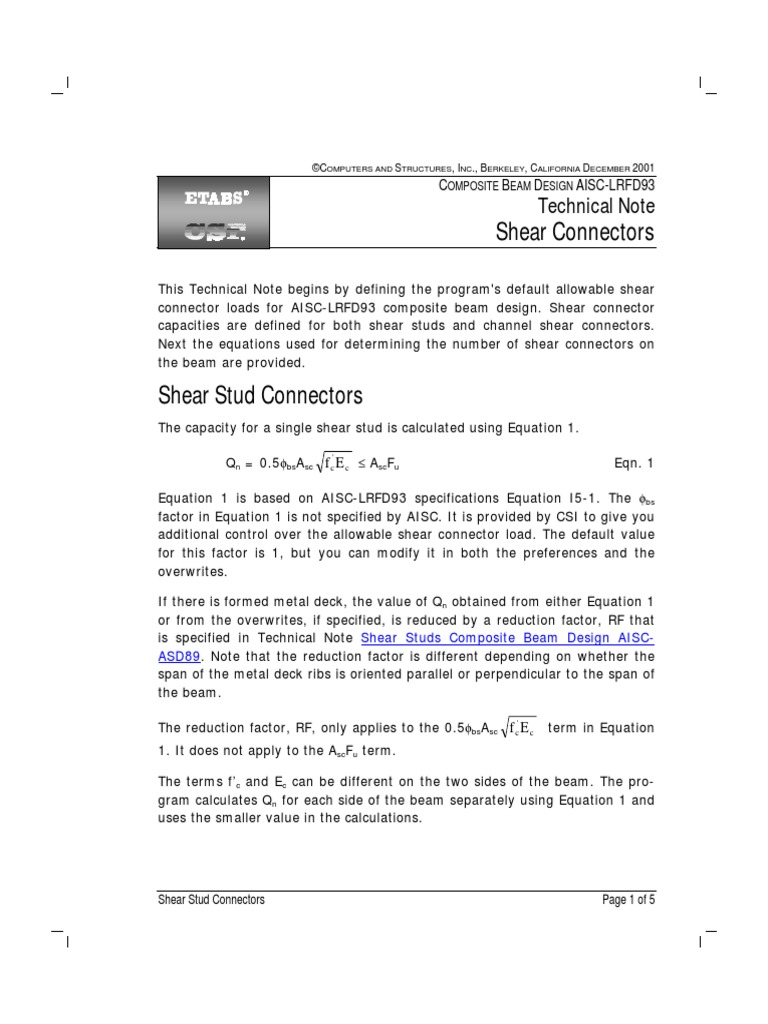 Information and Pool Etabs Manuals English e Tn Cbd Aisc