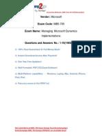 [100% PASS] Latest Braindump2go Microsoft MB5-705 Study Guide Free Download (1-10)