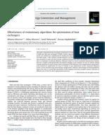 Effectiveness of Evolutionary Algorithms for Optimization of Heat Exchangers
