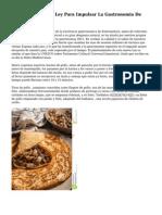Proposicion No De Ley Para Impulsar La Gastronomia De Espana