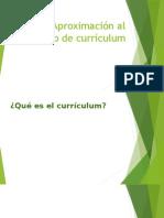 Aproximación Al Concepto de Currículum
