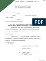 STEINBUCH v. CUTLER - Document No. 4