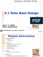 4 1 Data Base Design