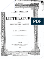 M.de Lamartine - Cours Familier de Littérature - Entretien 49