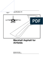 Marshall Asphalt for Airfields