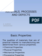 Materials, Processes and Defects