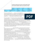 IELTS Essay Compare and Contrast