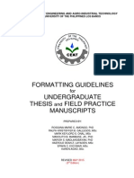 Ceat Thesis Format Guidelines Final Revised (3rd Edition) 04032015