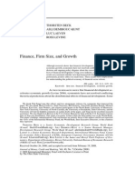 Beck 2008 - Finance, Firm Size, And Growth