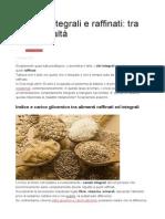 Cereali Integrali e Raffinati
