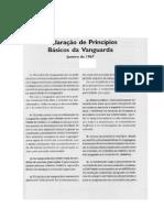 Declaração Dos Princípios Básicos Da Vanguarda - 1967