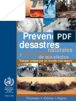 Prevencion de Los Desastres Naturales y Atenuacion de Sus Efectos
