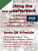 Jenks Teaching the HS Quarterback