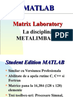 Curs 0 Introducere in Matlab