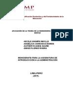 Monografia Reingenieria - Introduccion a La Administración